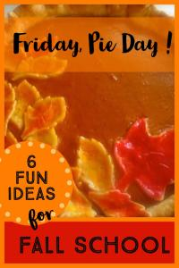 Fall activities for families pie day for fall school