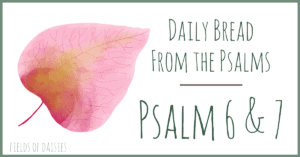 Psalms 6 and 7 Devotional