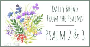 Praying Psalm 2 and 3