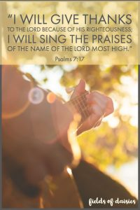 Psalm 7 singing with guitar