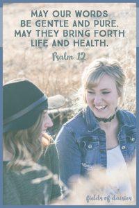 psalm 12 speak life