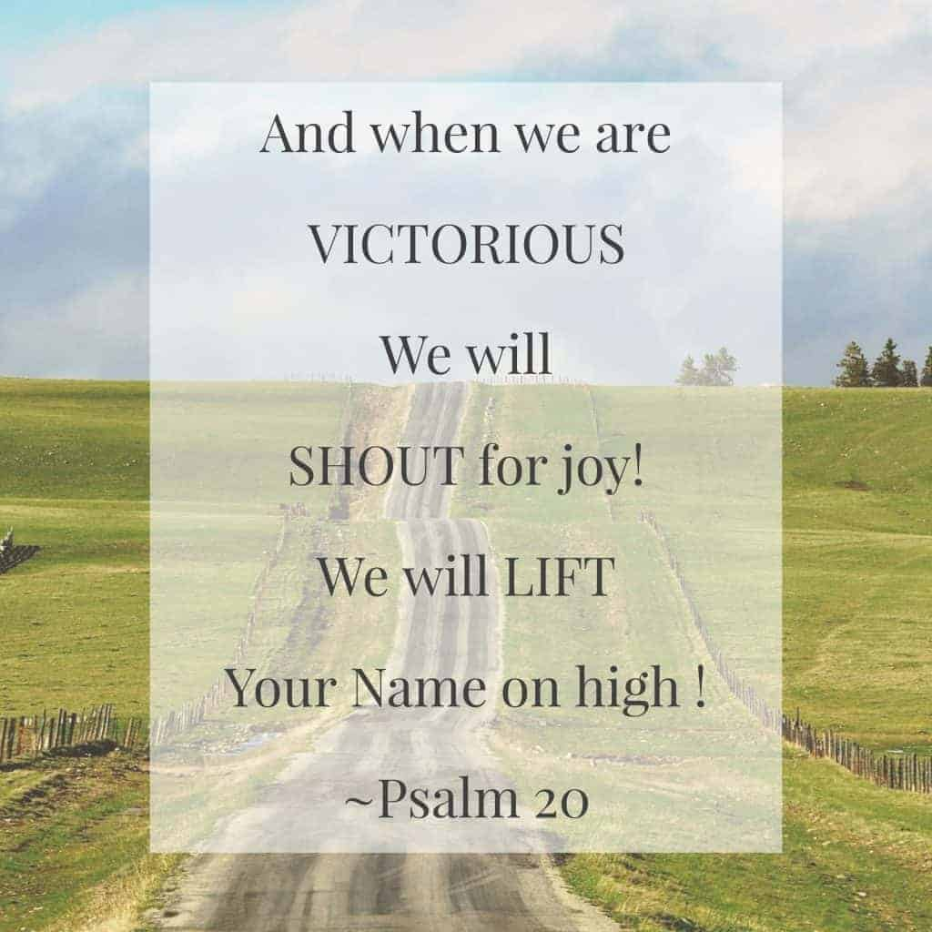 Praying Psalm 20 (Image)