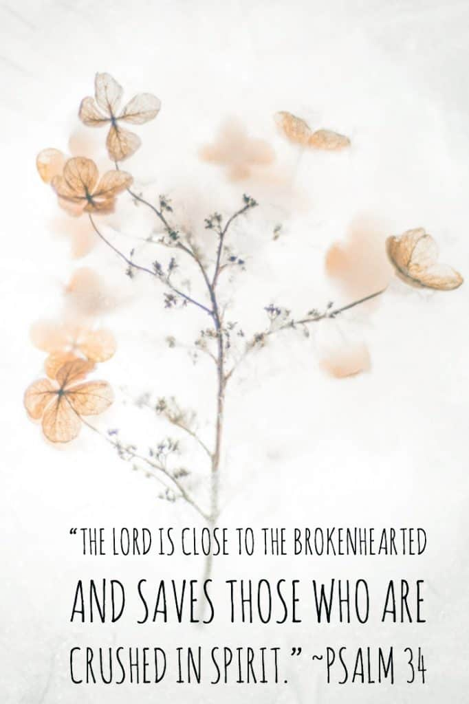 The LORD is close to the brokenhearted Psalm 34
