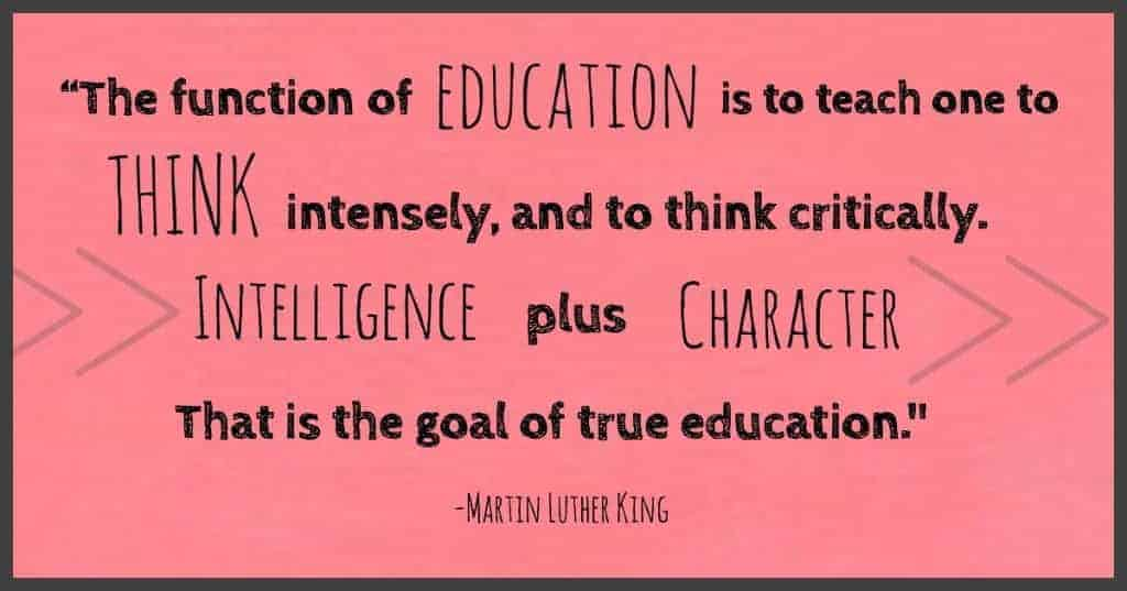 "Martin Luther King Quote- ""The function of education..."""