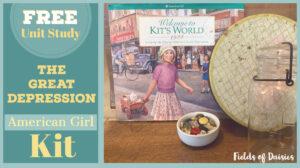 Great Depression American Girl Kit Unit Study