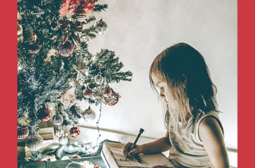 girl christmas holiday homeschooling