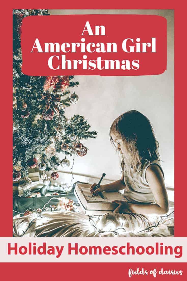 girl christmas holiday homeschooling