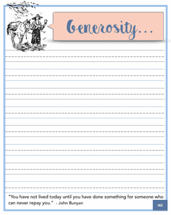 Generosity Bible Study for Kids Printable
