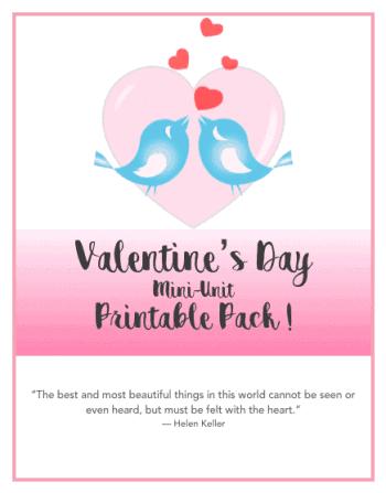 Valentine's Day Unit Study Printables