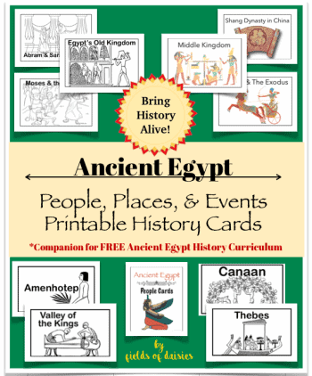 Ancient Egypt Printable History Cards