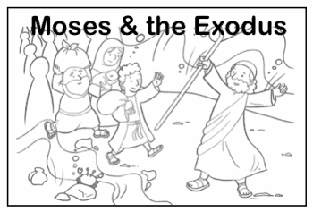 moses in egypt coloring page