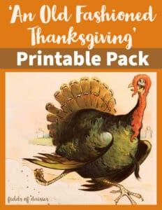 Thanksgiving Unit Study Printables