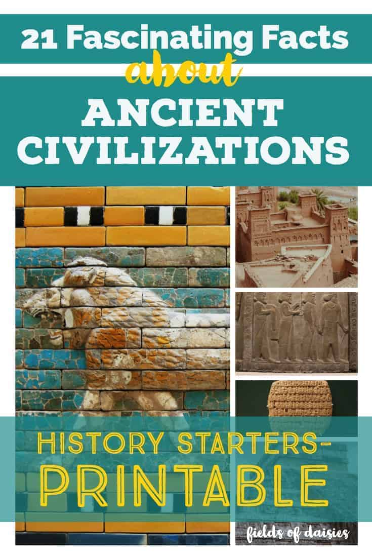 photo about Printable Mural called 21 Intriguing Details Above Historic Civilizations (Printable)