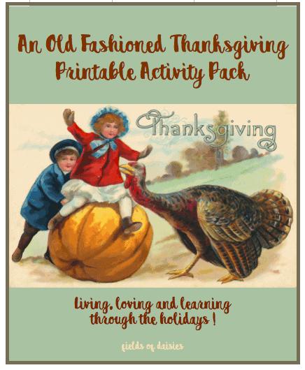 Thanksgiving turkey pumpkin children old fashioned