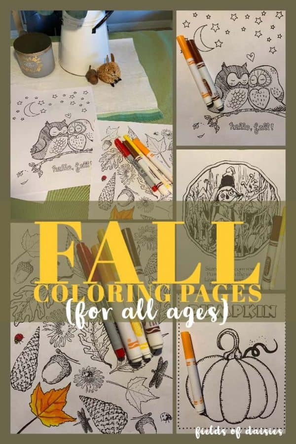 pumpkin scarecrow fall scenes coloring pages