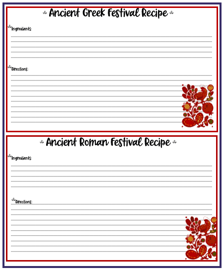 recipe cards for thanksgivng
