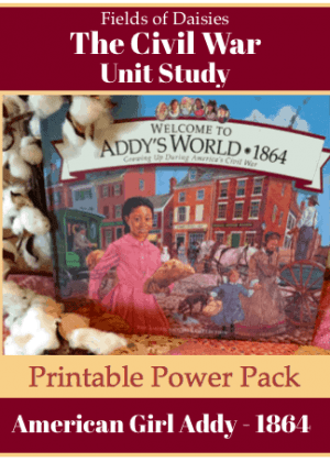 American Girl Addy Civil War Printables