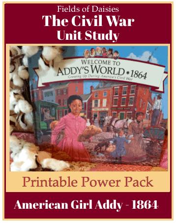 American Girl Addy Civil War Printables