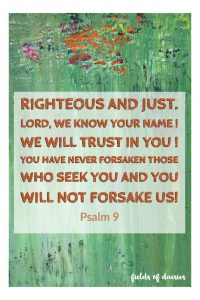 psalm 9 painting those who seek you