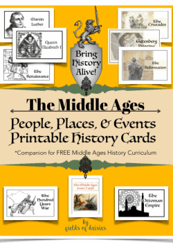 Middle Ages History printables