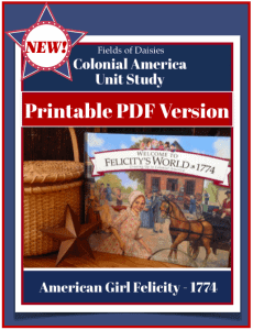 American Girl Felicity Colonial America Unit Study PDF version cover