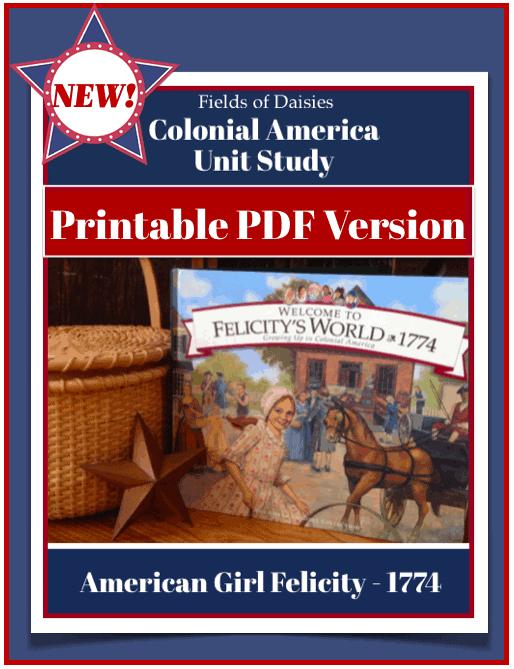 American Girl Felicity Unit Study Printables