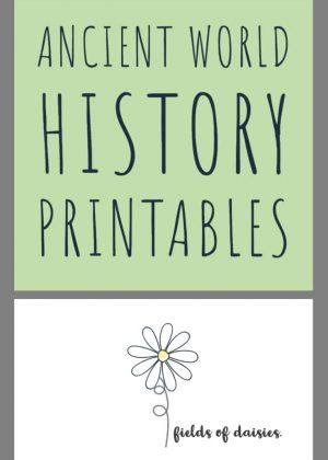 Ancient World History Printables