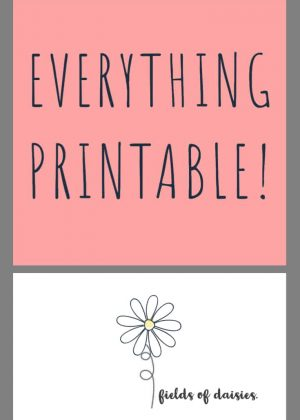 Fields of Daisies Printables