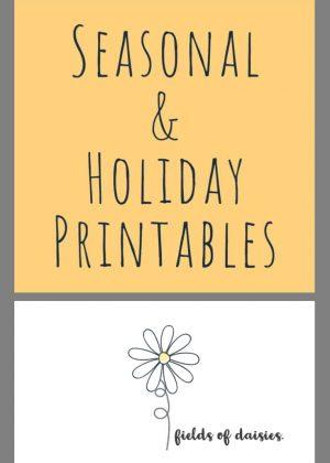 Seasonal and Holiday Printables
