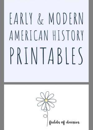 American History Printables (Early through Modern)
