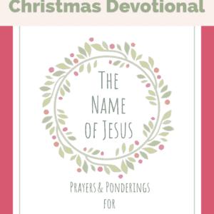 Christmas Devotional Free Name of Jesus