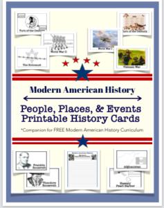Modern American History Printable Cards